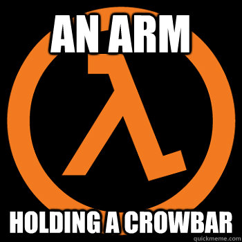An Arm  holding a crowbar - An Arm  holding a crowbar  Misc