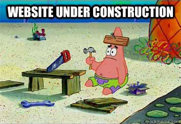 Image result for website under construction meme