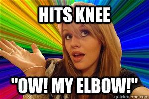 Hits knee