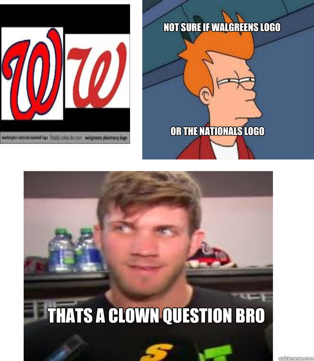 Not sure if walgreens logo or the nationals logo Thats a clown question bro - Not sure if walgreens logo or the nationals logo Thats a clown question bro  Walgreens Clown Question
