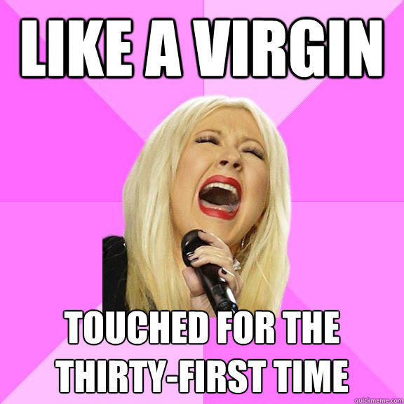 Like a virgin Touched for the thirty-first time - Like a virgin Touched for the thirty-first time  Wrong Lyrics Christina