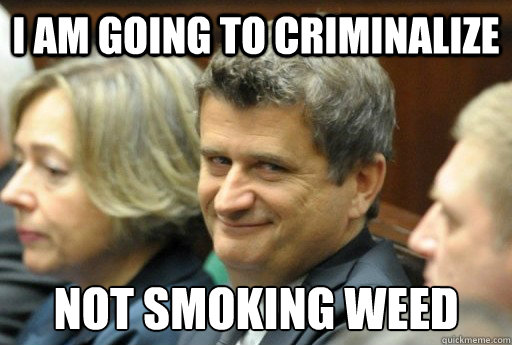 I am going to criminalize not smoking weed - I am going to criminalize not smoking weed  Stoner Politician