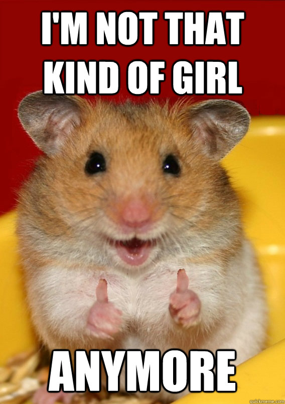 I'm not that kind of girl anymore   Rationalization Hamster