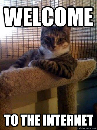WELCOME to the internet - WELCOME to the internet  The Most Interesting Cat in the World
