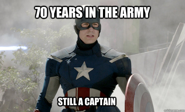 70 years in the army still a captain