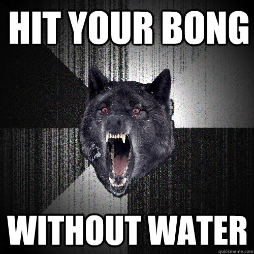 HIt your bong without water - HIt your bong without water  Insanity Wolf
