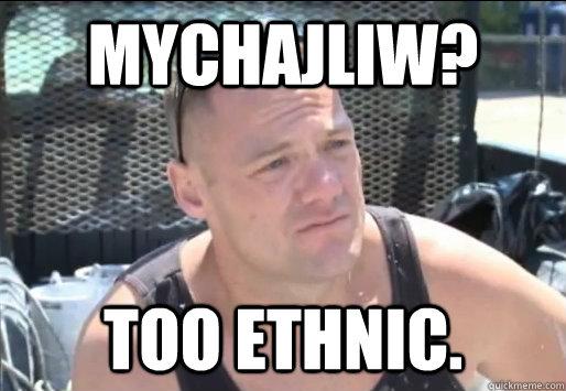 Mychajliw? Too Ethnic.