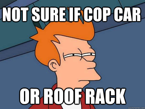 Not sure if cop car or roof rack - Not sure if cop car or roof rack  Futurama Fry