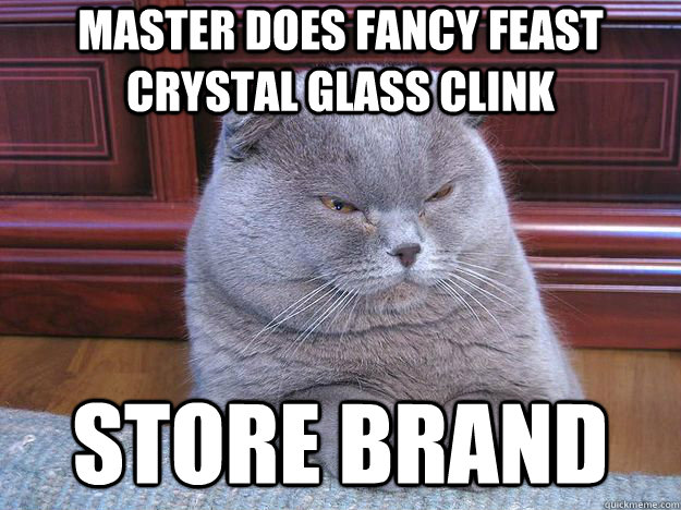 Master does fancy feast crystal glass clink Store brand - Master does fancy feast crystal glass clink Store brand  Misc