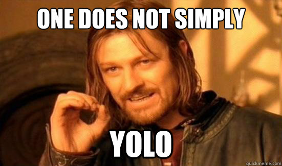 One Does Not Simply YOLO - One Does Not Simply YOLO  Boromir