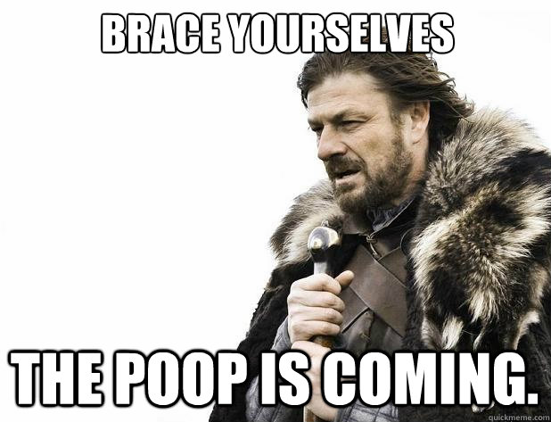 brace yourselves The poop is coming. - brace yourselves The poop is coming.  Misc