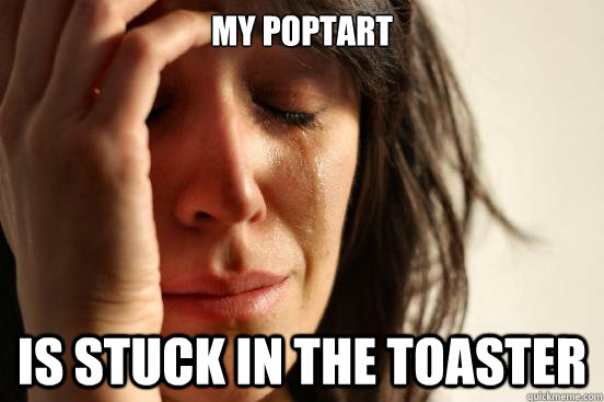 my poptart is stuck in the toaster - my poptart is stuck in the toaster  First World Problems