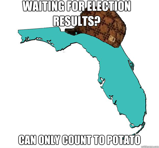 Waiting for election results? Can only count to potato