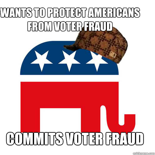 Wants to protect americans from voter fraud commits voter fraud