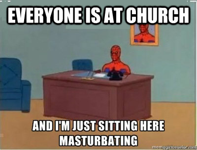 everyone is at church