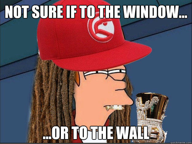Not sure if to the window... ...or to the wall - Not sure if to the window... ...or to the wall  Futurama Fry