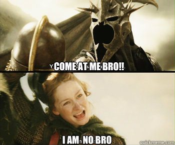 Come at me Bro!! I am  no Bro - Come at me Bro!! I am  no Bro  My favorite lord of the rings moment