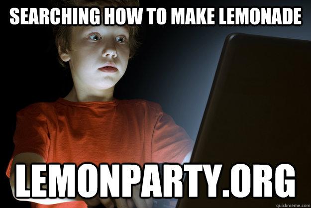searching how to make lemonade lemonparty.org