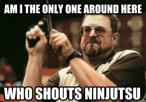 Am I the only one around here who shouts ninjutsu - Am I the only one around here who shouts ninjutsu  Am I the only one