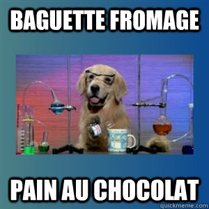 Baguette fromage pain au chocolat - Baguette fromage pain au chocolat  Paris
