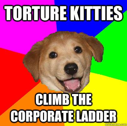 torture kitties climb the corporate ladder - torture kitties climb the corporate ladder  Advice Dog