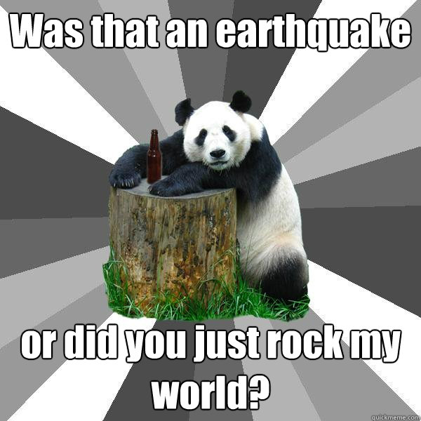 Was That An Earthquake Or Did You Just Rock My World