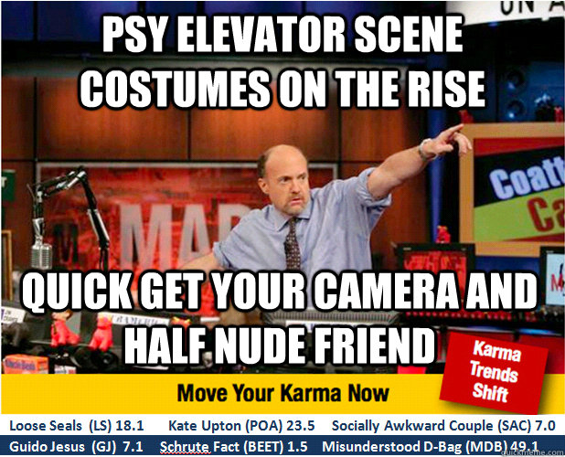 PSY Elevator scene costumes on the rise quick get your camera and half nude friend - PSY Elevator scene costumes on the rise quick get your camera and half nude friend  Jim Kramer with updated ticker