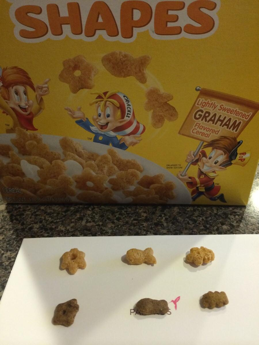Rice Krispies cereal has same shapes as Friskies cat treats -   Misc