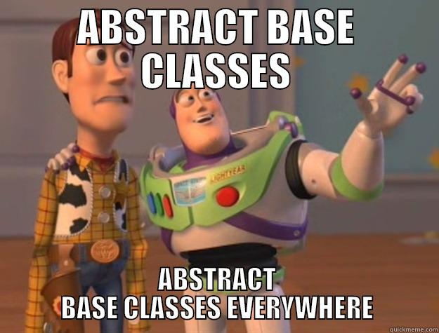 ABSTRACT BASE CLASSES ABSTRACT BASE CLASSES EVERYWHERE Toy Story