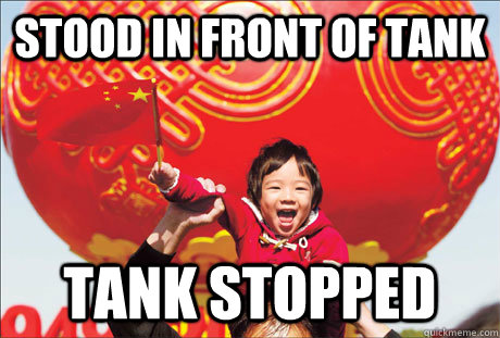 Stood in front of tank tank stopped  Second World Success