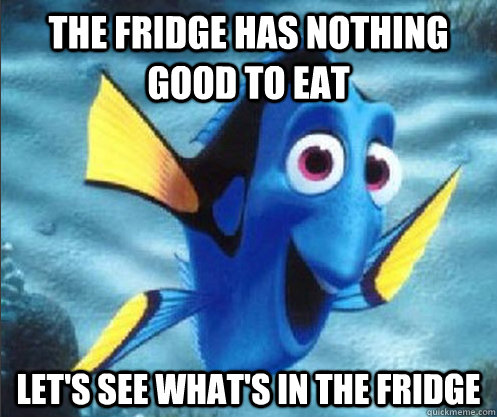 the fridge has nothing good to eat Let's see what's in the fridge