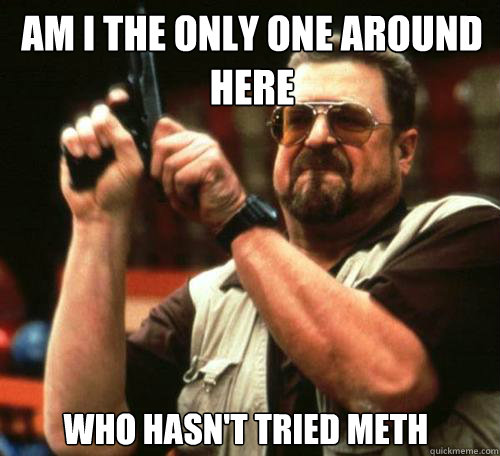 AM I THE ONLY ONE AROUND HERE WHO HASN'T TRIED METH - AM I THE ONLY ONE AROUND HERE WHO HASN'T TRIED METH  Misc