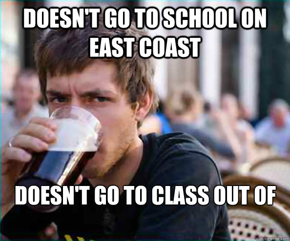 Doesn't go to school on East Coast Doesn't go to class out of respect to Hurricane Sandy - Doesn't go to school on East Coast Doesn't go to class out of respect to Hurricane Sandy  Lazy College Senior