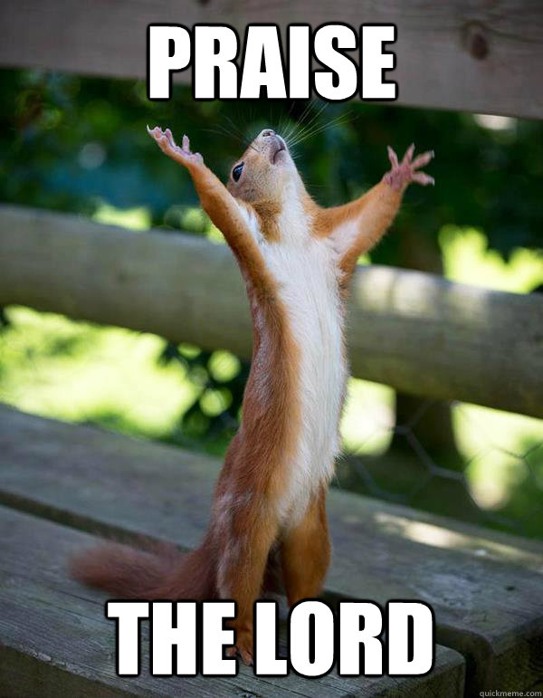 praise the lord  Praise Squirrel
