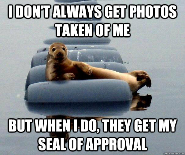 I don't always get photos taken of me but when i do, they get my seal of approval - I don't always get photos taken of me but when i do, they get my seal of approval  Misc