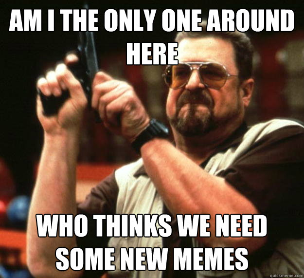 am I the only one around here who thinks we need some new memes - am I the only one around here who thinks we need some new memes  Angry Walter
