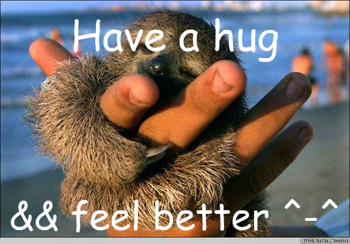 Have a hug  && feel better ^-^