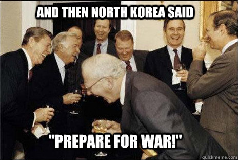 And then North Korea said