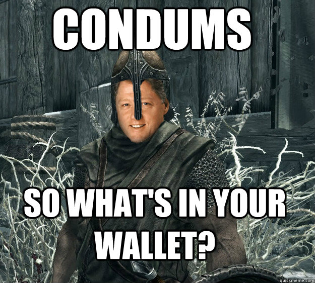 Condums so what's in your wallet?