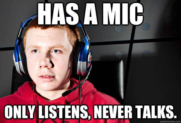 has a mic only listens, never talks.