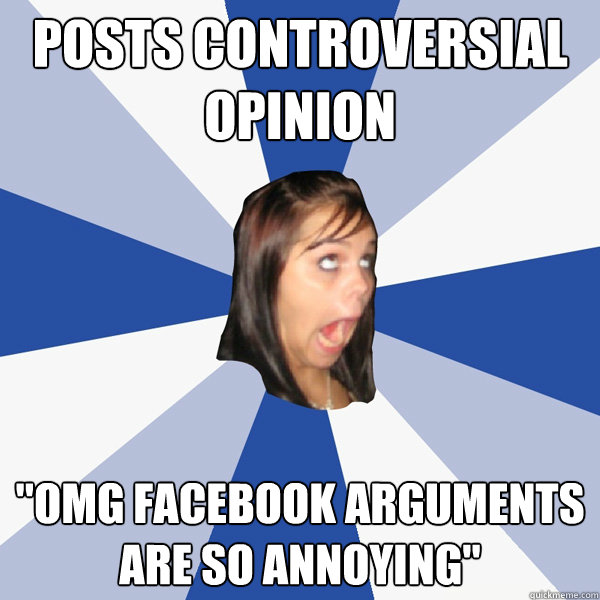 Posts controversial opinion