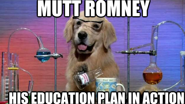 Mutt Romney His education plan in action