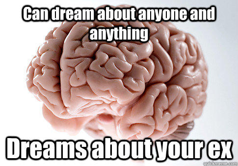 Can dream about anyone and anything Dreams about your ex - Can dream about anyone and anything Dreams about your ex  Scumbag Brain
