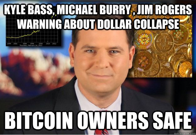 Kyle Bass, Michael Burry , jim rogers warning about dollar collapse Bitcoin owners safe  Bitcoin owners safe
