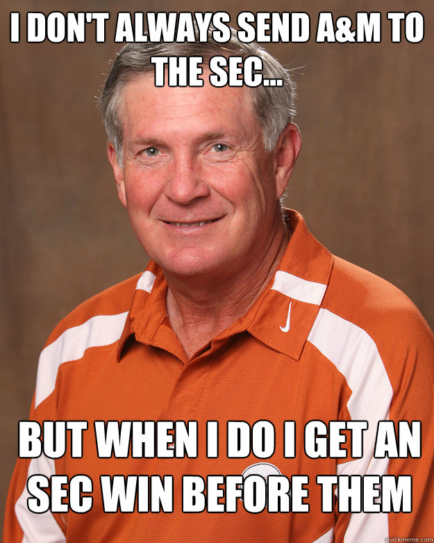 I don't always send A&M to the sec... But when i do i get an sec win before them
