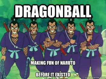 Dragonball Making fun of naruto  before it existed - Dragonball Making fun of naruto  before it existed  murosaki brothers