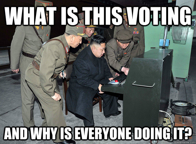 What is this voting And why is everyone doing it? - What is this voting And why is everyone doing it?  kim jong un