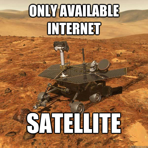 only available internet satellite
