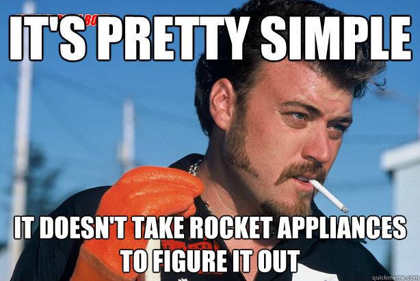 It's pretty simple it doesn't take rocket appliances to figure it out