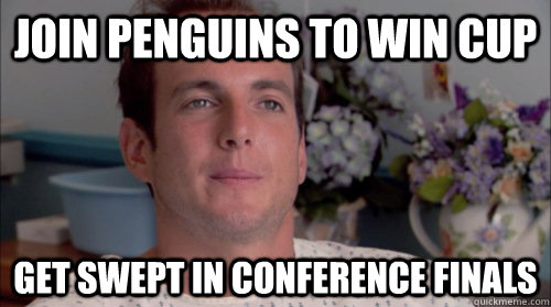 Join penguins to win cup get swept in conference finals